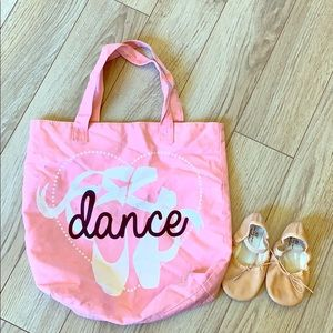 Ballet shoes and Dance tote bag